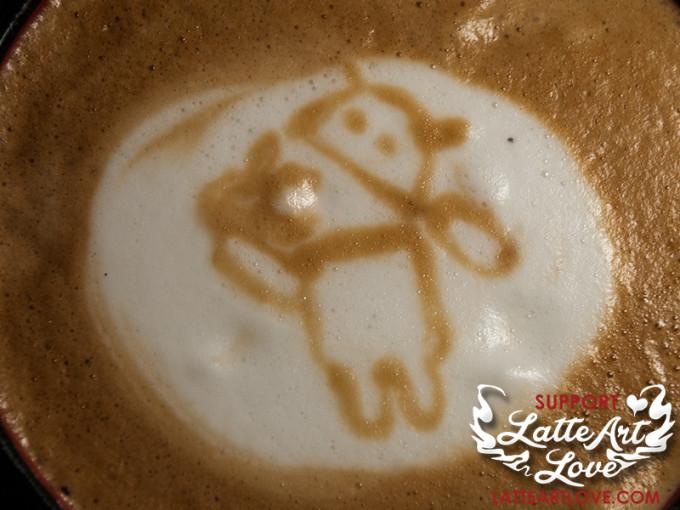 Latte Art - Android eats Apples