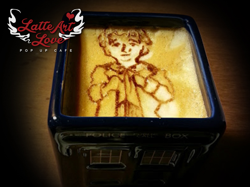 Latte Art Love - Sixth Doctor