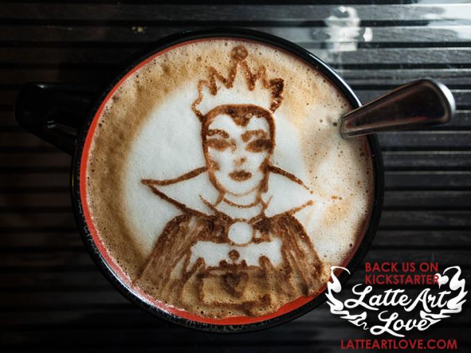 Latte Art - The Evil Queen